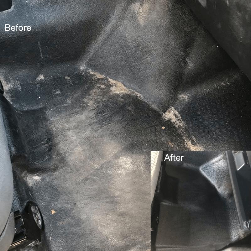 Vinyl Car Flooring Cleaning