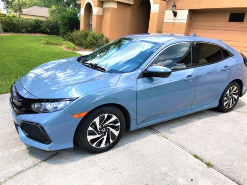 Blue Honda Exterior