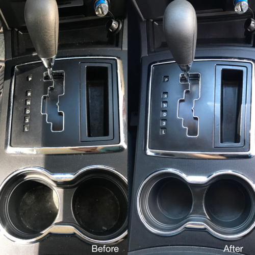Center Console Steam Cleaning
