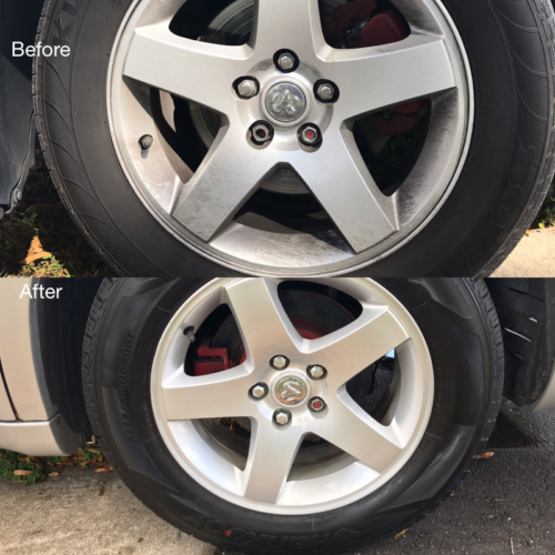 Tire Cleaning and Dressing
