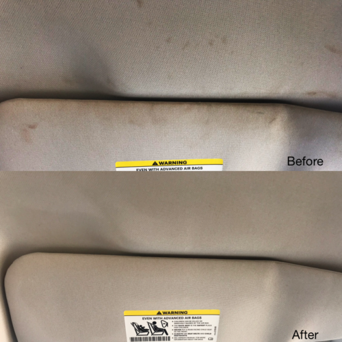 Visor and Headliner Stain Removal