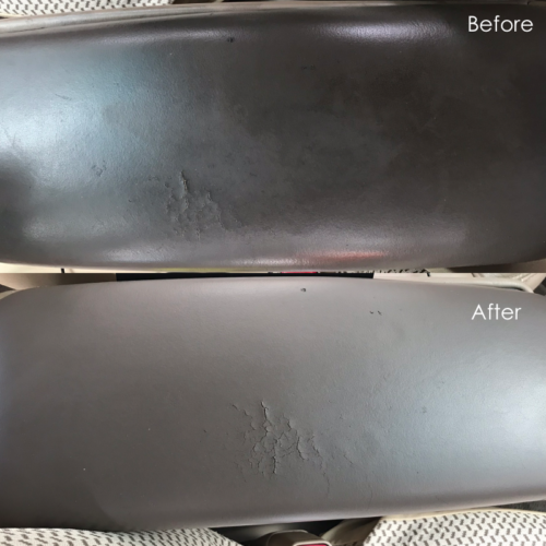 Leather Arm Rest Cleaning