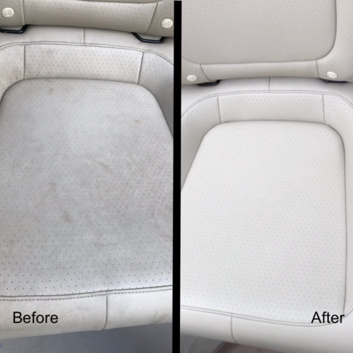 Interior Detailing Before and After Leather Seats