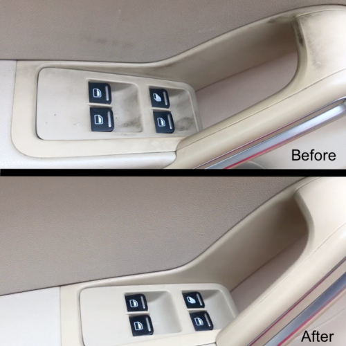 Interior Detailing Door Before and After